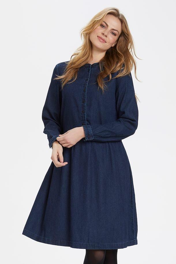 Culture kjole i mørk denimblå