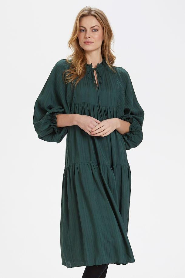 Mørkegrøn kjole fra Culture