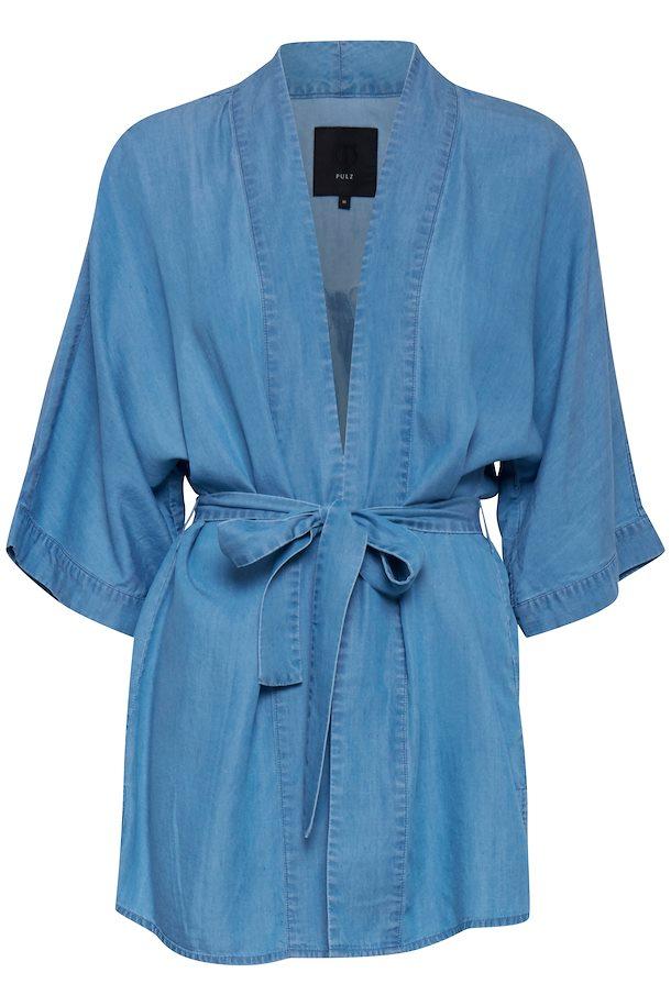 PULZ JEANS lys denimblå Kimono