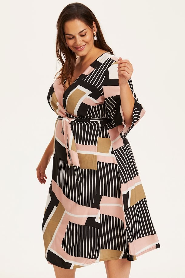Sort/sand kjole fra Kaffe Curve